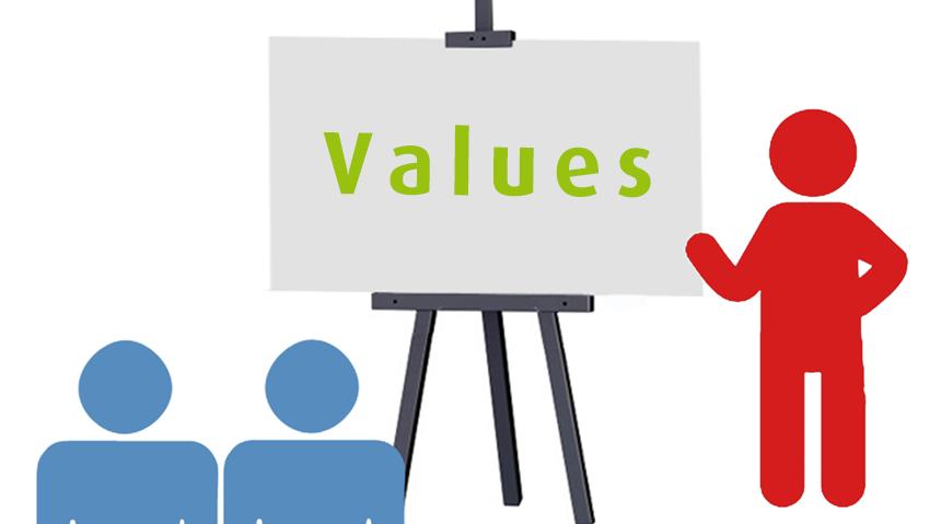 organisation's values
